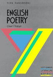 English Poetry (York Handbooks)