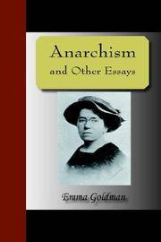 image of Anarchism And Other Essays