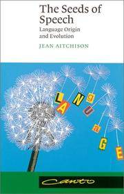image of The Seeds of Speech: Language Origin and Evolution (Canto)