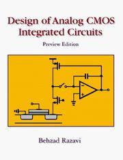 design of analog cmos integrated circuits by razavi, behzad