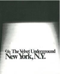 C/O THE VELVET UNDERGROUND, NEW YORK, NY