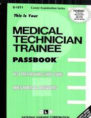 Medical Technician Trainee, C-1371