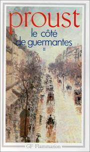image of Le Cote De Guermantes II (Garnier-Flammarion) (French Edition)