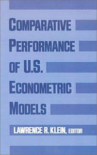 Comparative Performance Of Us Econometric Models