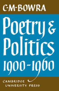Poetry and Politics 1900-1960