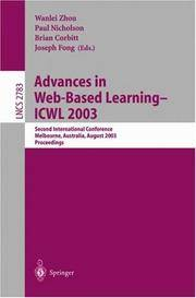 Advances in Web-Based Learning- Icwl 2003: Second International Conference, Melbourne, Australia, August 18-20, 2003, Proceedings