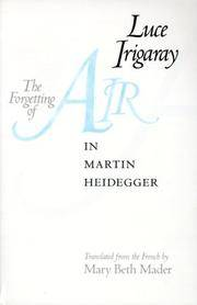 image of The Forgetting of Air in Martin Heidegger