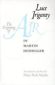 The Forgetting Of Air In Martin Heidegger