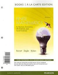 image of Finite Mathematics for Business, Economics, Life Sciences and Social Sciences, Books a la Carte Edition