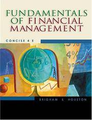 image of Fundamentals of Financial Management: Concise 4th Edition