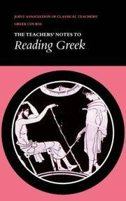 image of Reading Greek: Teacher's Notes