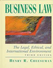 image of Business Law: The Legal, Ethical, and International Environment (3rd Edition)