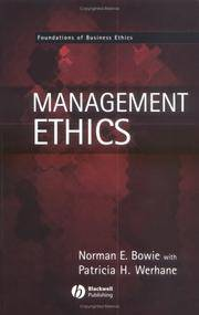 Management Ethics (Foundations of Business Ethics)