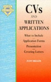 CVs and Written Applications