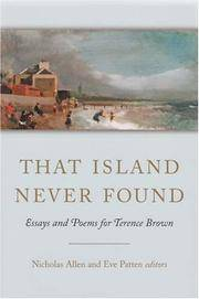 That Island Never Found: Essays and Poems for Terence Brown