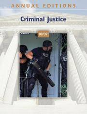 Annual Editions: Criminal Justice 08/09