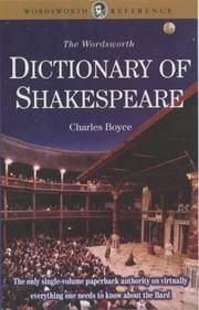 Dictionary of Shakespeare (Wordsworth Collection) (Wordsworth Collection)