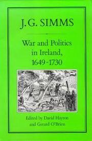 WAR AND POLITICS IN IRELAND, 1649-1730