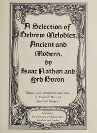 A Selection of Hebrew Melodies, Ancient and Modern