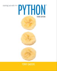 Starting Out with Python (3rd Edition)