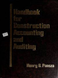Handbook for construction accounting and auditing