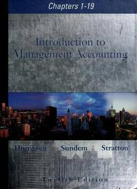 image of Introduction to Management Accounting Chapters 1-19