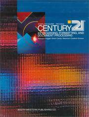 CENTURY 21 Keyboarding, Formatting, and Document Processing: Complete Course, Lessons 1 - 300 by  Lee R  Jack P.; Ownby; Beaumont - Hardcover - from Georgia Book Company and Biblio.com