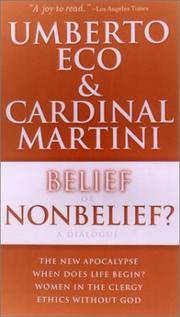 Belief or Nonbelief?: A Dialogue Introduction By Harvey Cox