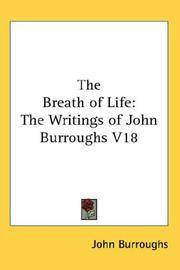 image of The Breath of Life: The Writings of John Burroughs V18
