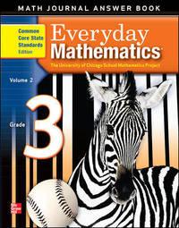 (CCSS) Everyday Mathematics - Math Journal Answer Book (Grade 3 - Volume 2)