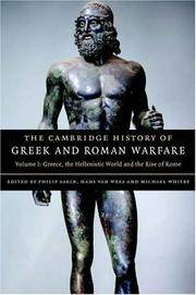 The Cambridge History of Greek and Roman Warfare - Volume I (1): Greece, the Hellenistic World and the Rise of Rome by  VAN WEES & WHITBY (EDS) SABIN - Hardcover -   - 2007 - from Green Ink Booksellers and Biblio.com