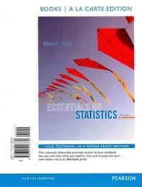 Essentials Of Statistics, Books a La Carte Edition