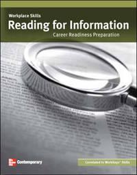 Workplace Skills: Reading for Information, Student Workbook (WORKFORCE)