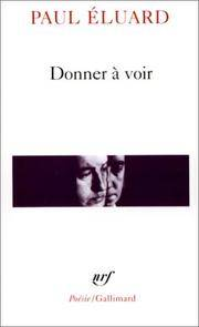 Donner a Voir (Poesie/Gallimard) (English and French Edition)