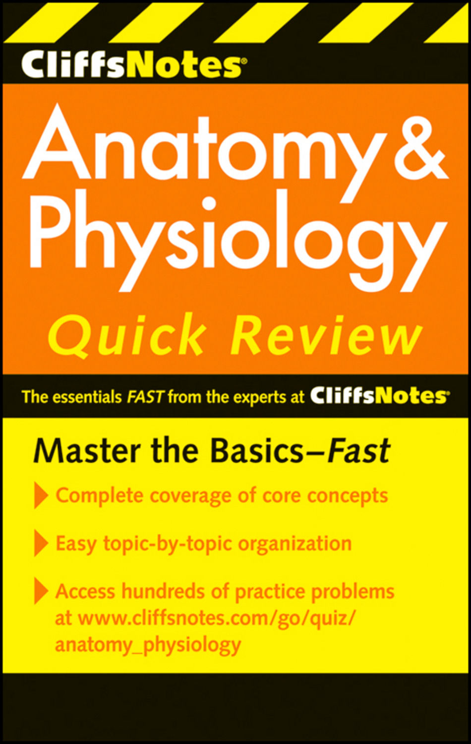 Cliffsnotes Anatomy and Physiology Quick Review by Seiler, Otto, 1873-,