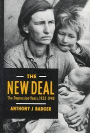 The New Deal: The Depression Years, 1933-1940 by  Anthony J Badger - Paperback - 1989-12-01 - from The Bookshelf (SKU: BMBXBT4167)