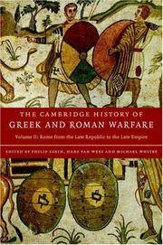 The Cambridge History of Greek and Roman Warfare - Volume II (2): Rome from the Late Republic to the Late Empire by  VAN WEES & WHITBY (EDS) SABIN - Hardcover -   - 2007 - from Green Ink Booksellers and Biblio.com