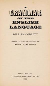 A Grammar of the English Language (Oxford Paperbacks)
