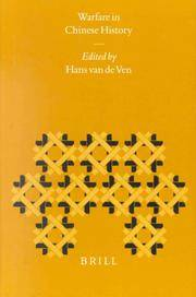 Warfare in Chinese History by  Hans J. (EDT) Van De Ven - Hardcover - from Northshire Bookstore and Biblio.com
