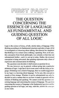 image of Logic As the Question Concerning the Essence of Language (SUNY series in Contemporary Continental Philosophy)