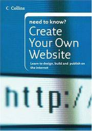 Collins Need To Know Create Your Own Website Learn To