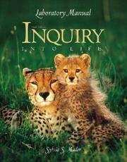 Laboratory Manual To Accompany Inquiry Into Life