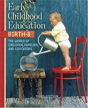 Early Childhood Education, Birth-8: The World of Children, Families, and Educators, MyLabSchool...