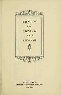 Treasury of Proverbs and Epigrams
