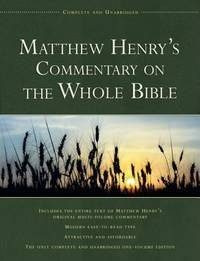 image of Matthew Henry's Commentary on the Whole Bible: Complete and Unabridged