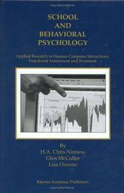School and Behavioral Psychology: Applied Research in Human-Computer Interactions, Functional...