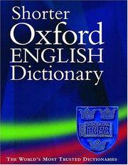 Shorter Oxford English Dictionary 2 Volume Set Volume 1 A-M and Volume 2 N-Z Fifth Edition