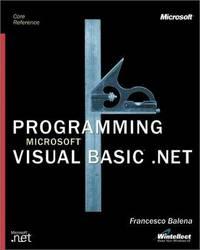 Programming Microsoft Visual Basic Net