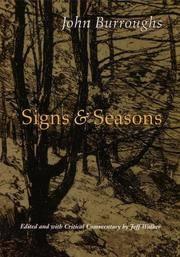 image of Signs and Seasons: John Burroughs