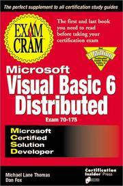 Mcsd Visual Basic Distributed Exam Cram